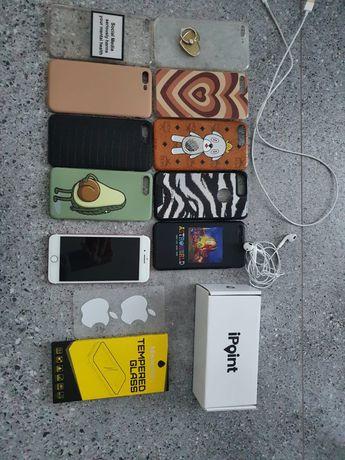 Iphone 7 plus rose gold 128gb + 9 etui + szklo hartowane
