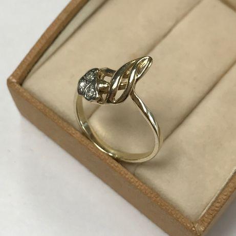 Śliczny, złoty pierścionek p. 585 roz. 16