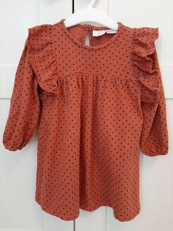 Sukienka w kropki ZARA 86 piękna dla dziewczynki