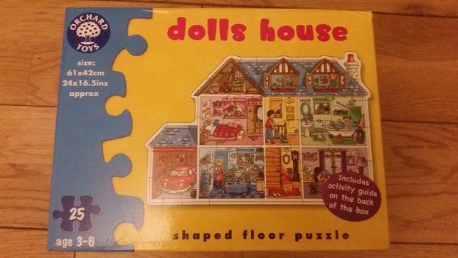 Piekne puzzle edukacyjne Orchard Toys DOLLS HOUSE 25 elem.duże OKAZJA