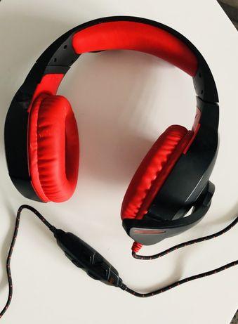 Gamingowe słuchawki dla graczy MAD DOG, 7.1, mikrofon, USB