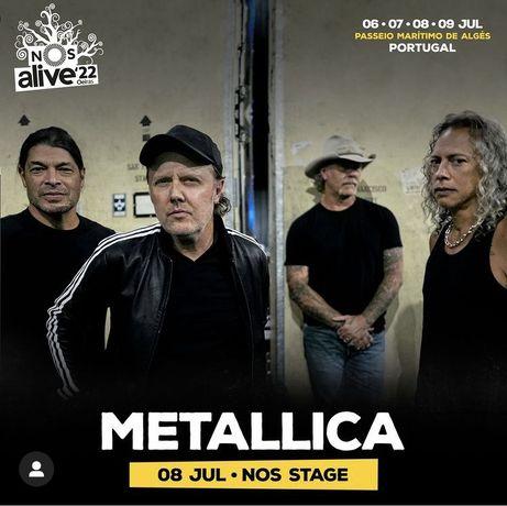 2 bilhetes para os Metallica