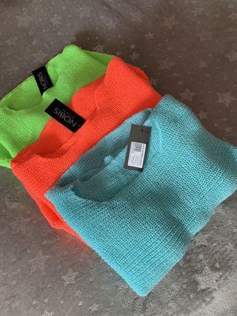 Mega sweterki NOWE neon rozmiar uni