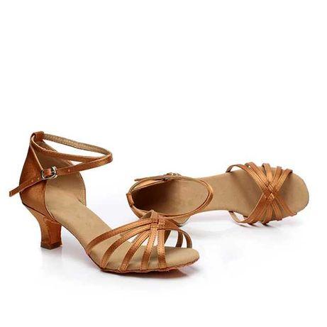 Nowe satynowe buty do salsy