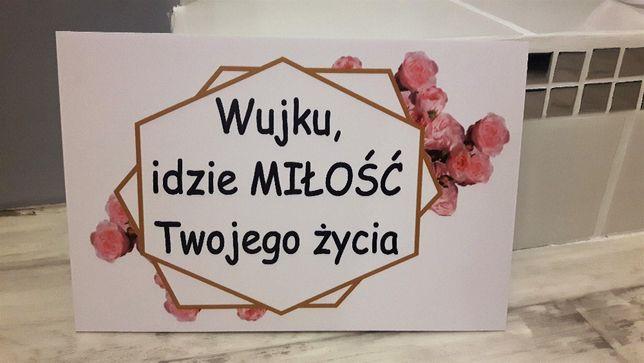 Tabliczka tabliczki dla dzieci wujku idzie ciocia i inne ślub wesele