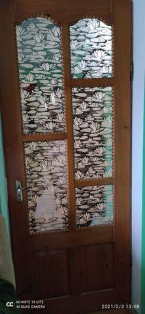 Двері дерев'яні міжкімнатні полотно 210 на 80 (є 1 шт) терміново торг