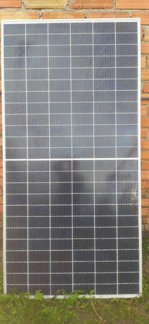 painel solar com vidro partido