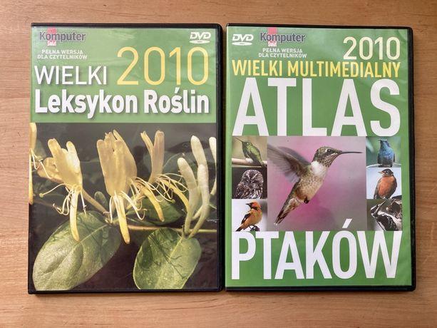 2 płyty DVD - programy atlas ptaków roślin Komputer świat
