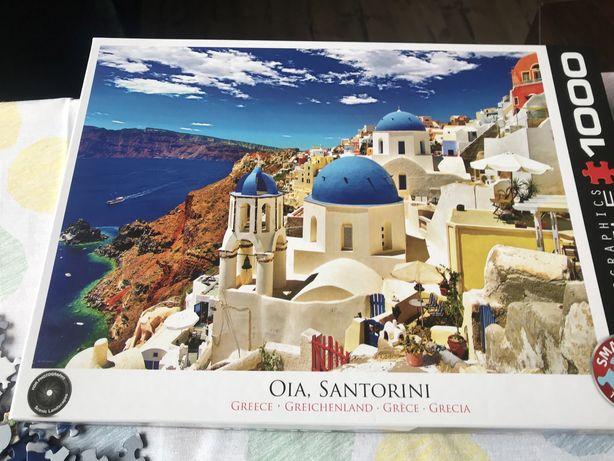 Puzzle Eurographics 1000 Santorini komplet