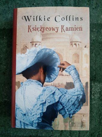 """piękna gruba książka powieść dramat twarda oprawa """"Księżycowy Kamień"""""""