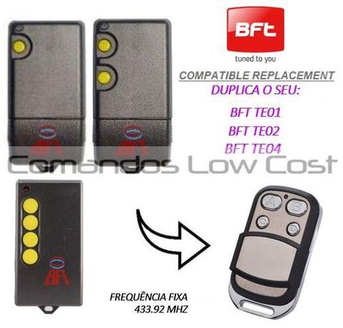 Comando de garagem compatível c/ BFT TE1 - TE2