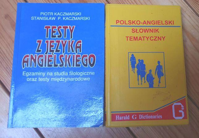 Testy z języka angielskiego- Kaczmarski & Polsko-angielski słownik
