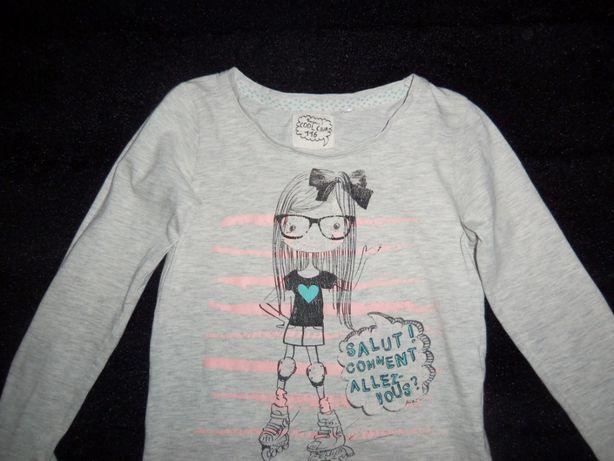 Bluzeczka dla dziewczynki, szara, cool club, r 116, 5, 6 lat