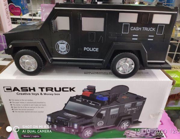 Машинка копилка Money Box Toy с Кодовым Замком и Отпечатком Пальца