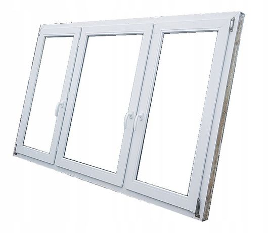 Okna KacprzaK Okno Pcv 230X134 UŻYWANE Z DEMONTAŻU