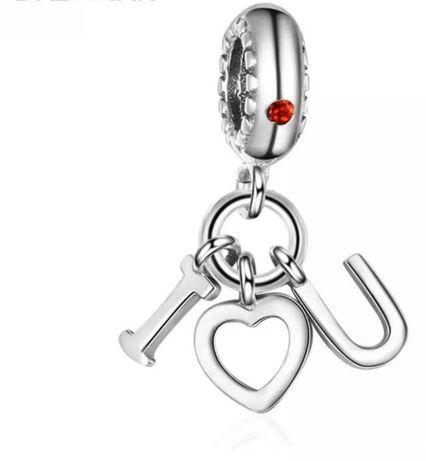 I love you charms zawieszka do bransoletki typu Pandora