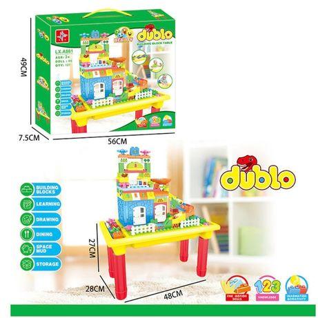 Игровой столик стол для игр с песком, водой + конструктор LX.A 881