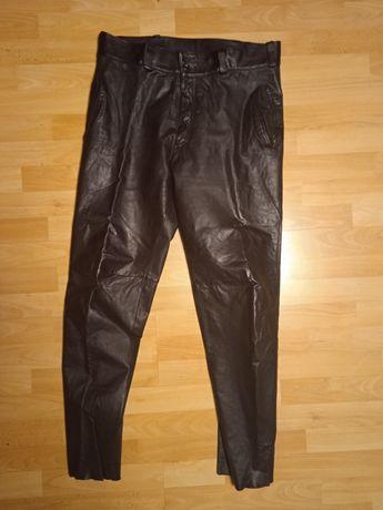 Spodnie skórzane męskie motocyklowe r. 48