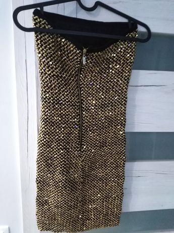 Sukienka złota mega błyszcząca super kreacja impreza