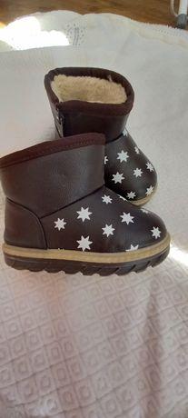 Чобітки зимові для дівчинки 25см