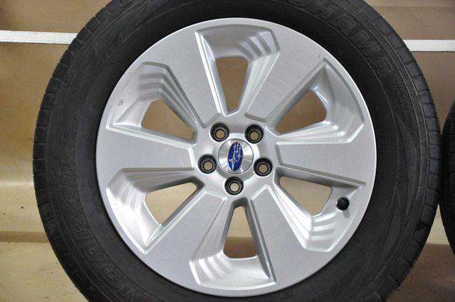 """Felgi Koła 17"""" Subaru Forester 5x100 Opony letnie 7.5mm ZADBANE"""