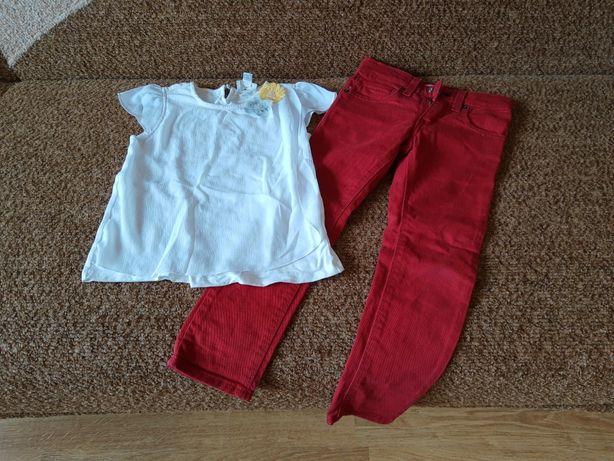 Джинсы для девочки и блузка. 116