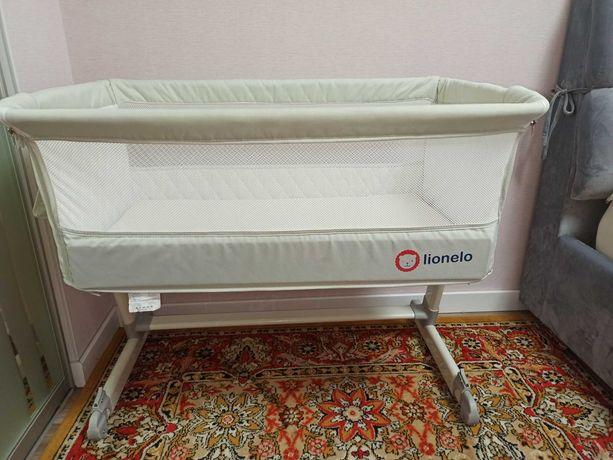 Кроватка детская приставная Lionelo Theo + спальный мешок в ПОДАРОК