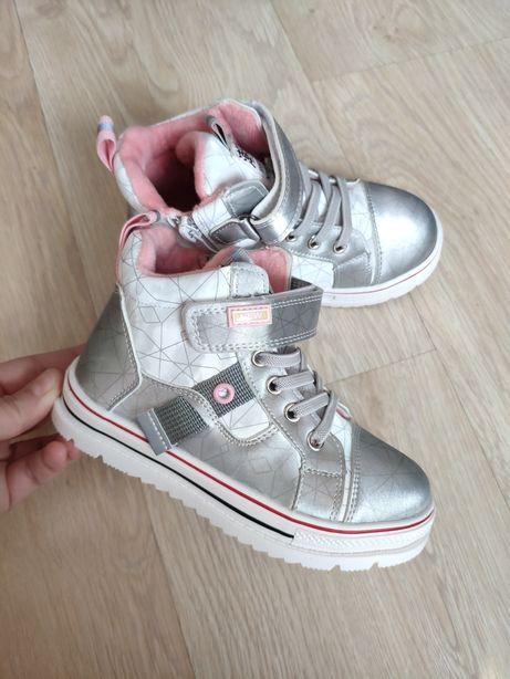 Стильные Деми хайтопы ботинки кеды кроссовки для девочек
