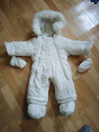Зимний кокон-комбинезон