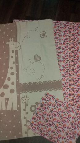 Детское постельное белье, одеяло байковое+пододеяльник и наволочка