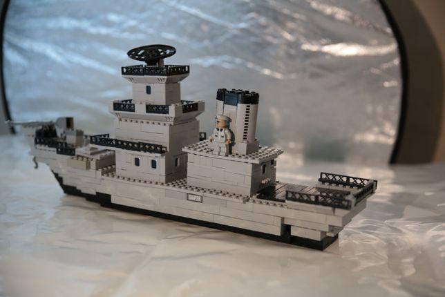 Лего военный корабль большой 48*20 для игры