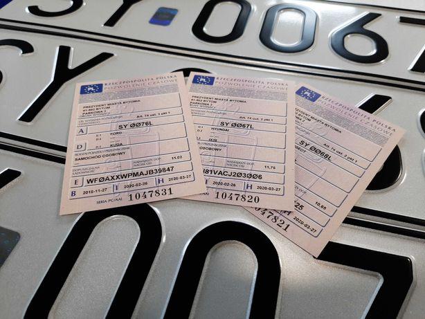 Rejestracja pojazdu samochodu AKCYZA tłumaczenia