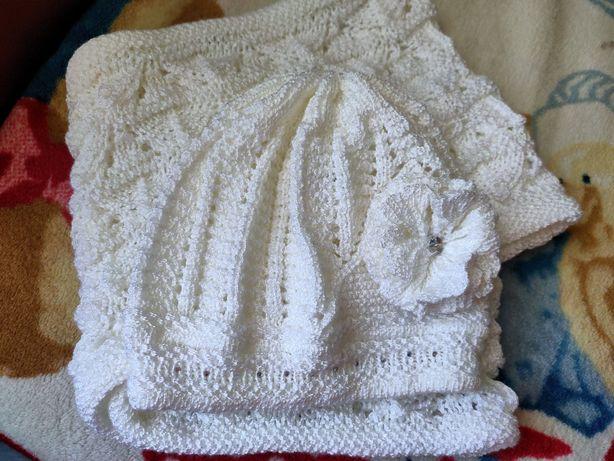 Ажурный весенний комплект на девочку arctic шапочка и снуд
