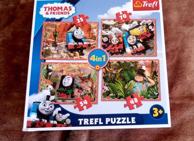 Puzzle Tomek i Przyjaciele 4 w 1