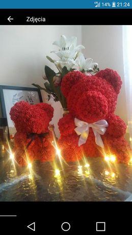 Rose bear 23 cm 35 cm ślub urodziny miś z różyczek