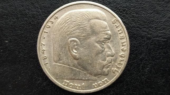 Срібна монета Німеччини 5 Марок 1936