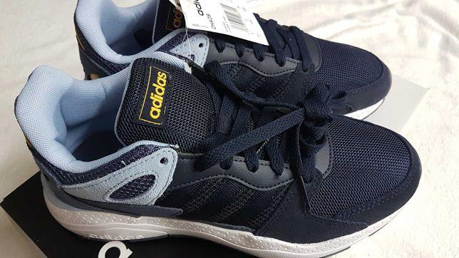 Кроссовки из нат.замши и ткани Adidas Chaos 38р,стелька 24см.