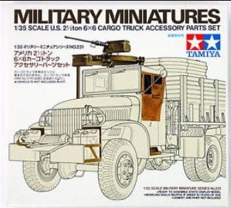 Tamiya 35231 U.S. 2 1/2 Ton 6X6 Cargo Truck Accessory Parts Set Nowa Sól - image 1