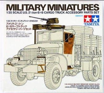Tamiya 35231 U.S. 2 1/2 Ton 6X6 Cargo Truck Accessory Parts Set
