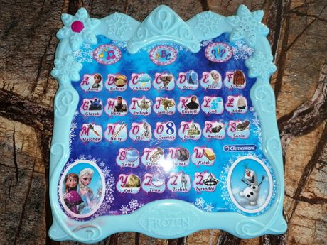 Interaktywna tablica do nauki literek Kraina Lodu Elsa
