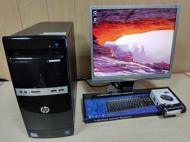 """Компьютер /Системный блок /ПК /C2D 3.2ГГц/ ОЗУ 2 DDR3 + Philips 19"""""""