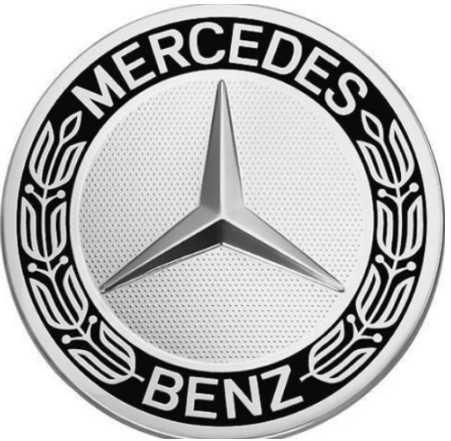 4x Centros Jantes Mercedes-Benz 75mm Azul