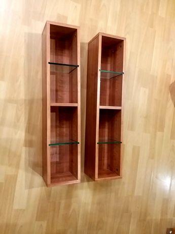 Мебельные полочки ниши коричневые