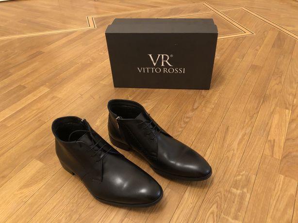 Туфли, ботинки, броги Vitto Rossi. 43р. Кожа. Подкладка мех