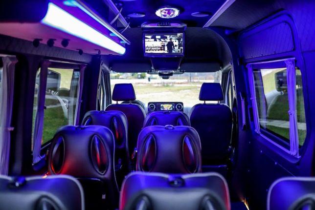 SPRINTER VIP 2020 Wypożyczalnia Busów Wynajem aut 9 osób bus vip