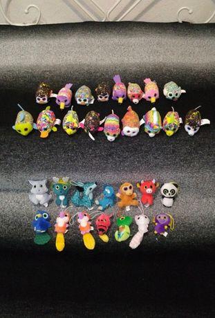 Мягкие игрушки макдональдс тини тай зоопарк глазастики