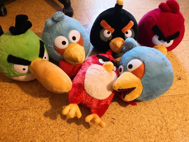 6 peluches Angry birds