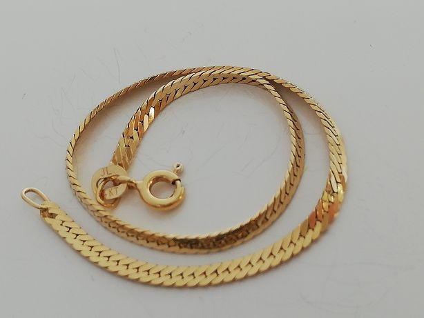 ITALY atrakcyjne cudenko złota bransoletka błyszcząca. Włoski wyrób
