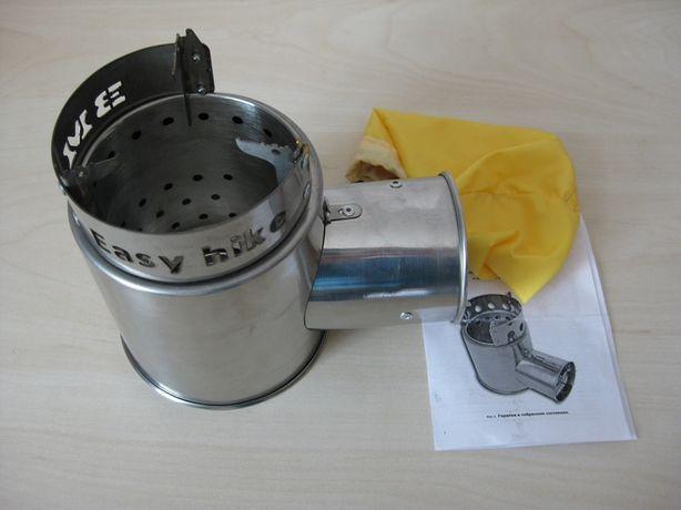 Походная турбо печка щепочница горелка Турбопечка Бонда с поддувом