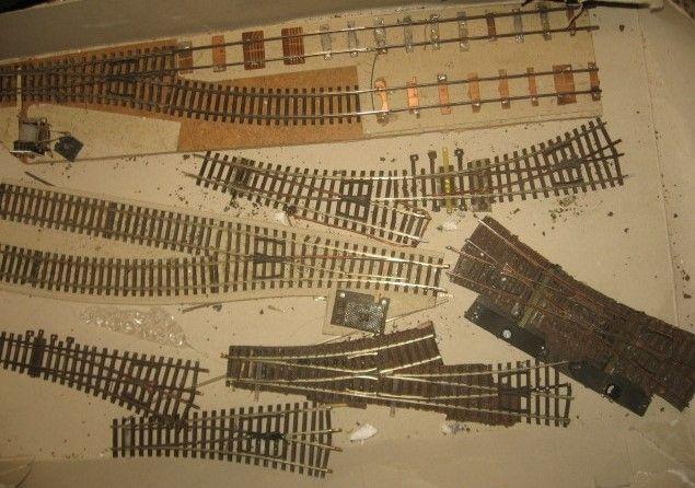 Стрелки профильные разные 7 шт. Железная дорога Пико 1.87